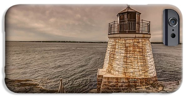 New England Lighthouse iPhone Cases - Castle Hill iPhone Case by Jerri Moon Cantone