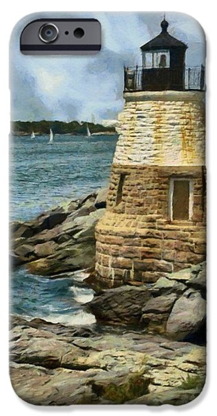 United iPhone Cases - Castle Hill Lighthouse iPhone Case by Jeff Kolker