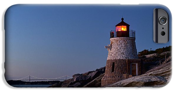 Recently Sold -  - New England Lighthouse iPhone Cases - Castle Hill lighthouse iPhone Case by John Greim