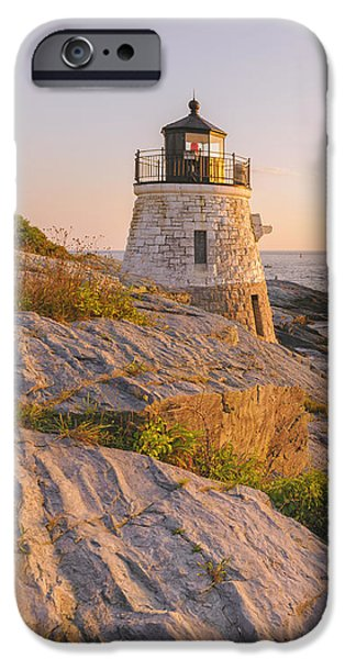 United States iPhone Cases - Castle Hill Lighthouse VII iPhone Case by Marianne Campolongo