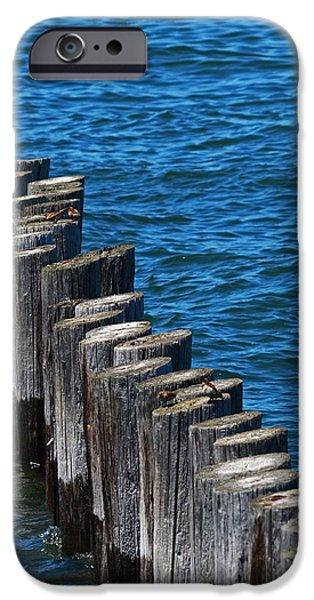 Boston Ma Digital iPhone Cases - Castle Island Breakwater Boston MA iPhone Case by Toby McGuire