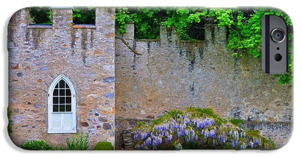 Highlands Digital iPhone Cases - Castle Wall at the Highlands iPhone Case by Bill Cannon