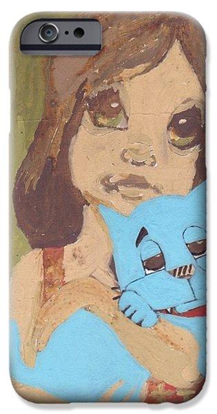 Spirit Cat Essence iPhone Cases - Cat 1 iPhone Case by William Douglas