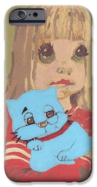Spirit Cat Essence iPhone Cases - Cat 2 iPhone Case by William Douglas