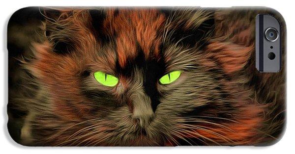 Miracle iPhone Cases - Cat Beelzebub iPhone Case by Sergey Lukashin