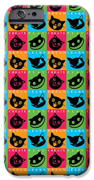 Alice In Wonderland iPhone Cases - Cat Mode iPhone Case by Naviblue