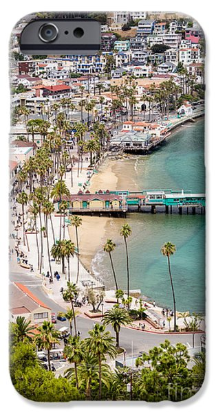 Pleasure iPhone Cases - Catalina Island Avalon Waterfront Aerial Photo iPhone Case by Paul Velgos