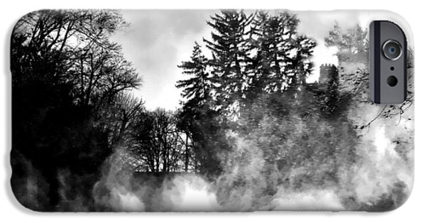 Drifting Snow Photographs iPhone Cases - Sqaull iPhone Case by Diana Angstadt