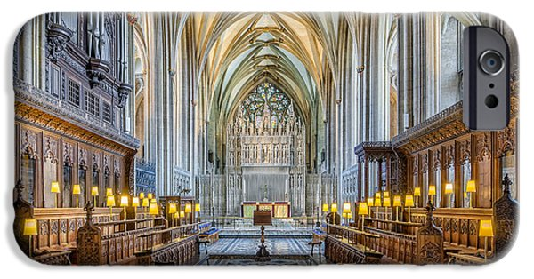 Religious iPhone Cases - Cathedral Aisle iPhone Case by Adrian Evans