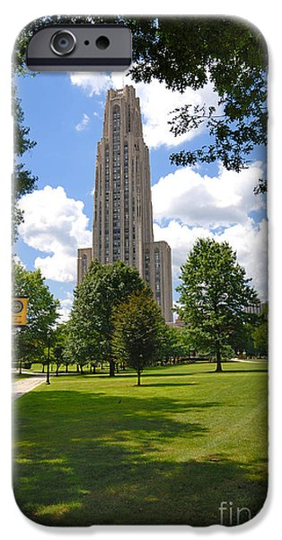Allegheny iPhone Cases - Cathedral of Learning University of Pittsburgh iPhone Case by Amy Cicconi