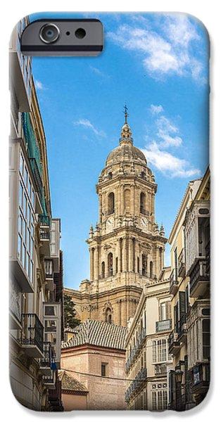 Malaga iPhone Cases - Cathedral of Malaga - Malaga Spain iPhone Case by Jon Berghoff