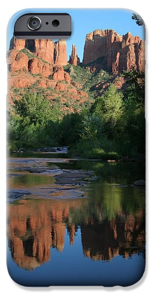 Cathedral Rock iPhone Cases - Cathedral Reflections iPhone Case by Jimmy Fox