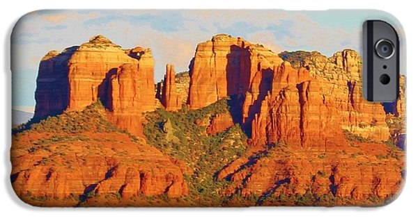 Cathedral Rock iPhone Cases - Sedona Cathedral Rock Landscape iPhone Case by Edward Dobosh