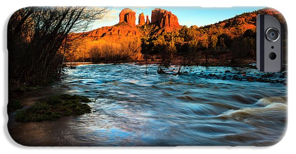 Cathedral Rock iPhone Cases - Cathedral Rock 8 iPhone Case by Ben Graham