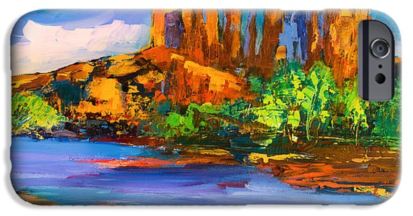Sedona iPhone Cases - Cathedral Rock Afternoon iPhone Case by Elise Palmigiani