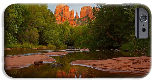 Sedona iPhone Cases - Cathedral Rock at Sunset  iPhone Case by Ruth Jolly