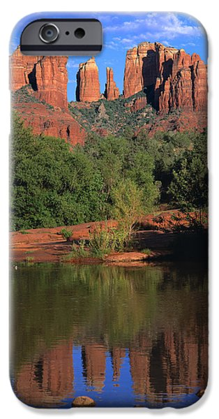 Cathedral Rock iPhone Cases - Cathedral Rock iPhone Case by Brad Kazmerzak