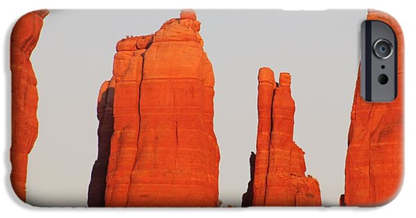 Cathedral Rock iPhone Cases - Sedona Cathedral Rock CloseUp D iPhone Case by Edward Dobosh