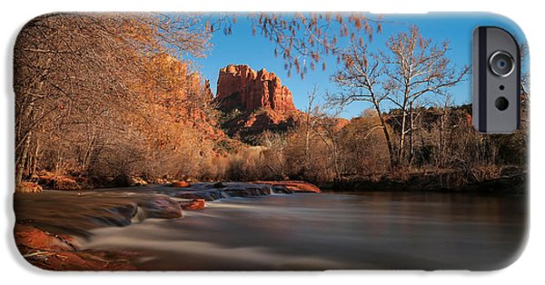 Sedona iPhone Cases - Cathedral Rock Sedona Arizona iPhone Case by Larry Marshall