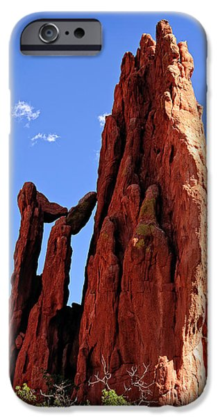 Cathedral Rock iPhone Cases - Cathedral Spires iPhone Case by Charles Dobbs