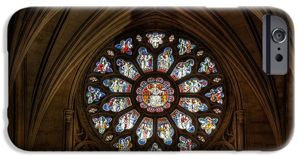 Christian Artwork Digital Art iPhone Cases - Cathedral Window iPhone Case by Adrian Evans