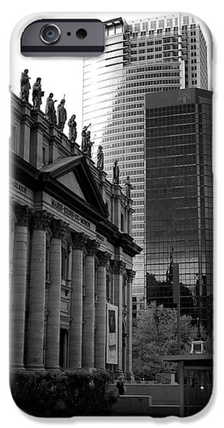City Scape Photographs iPhone Cases - Cathedrale Marie-Reine-du-Monde iPhone Case by Lisa Knechtel