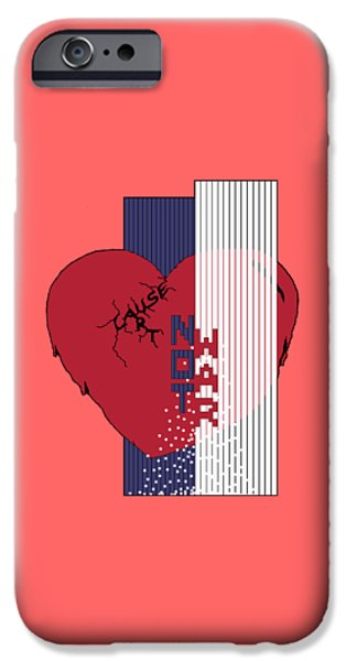 Patriots iPhone Cases - Cause Art Not War Transparent iPhone Case by Wendy Rickwalt