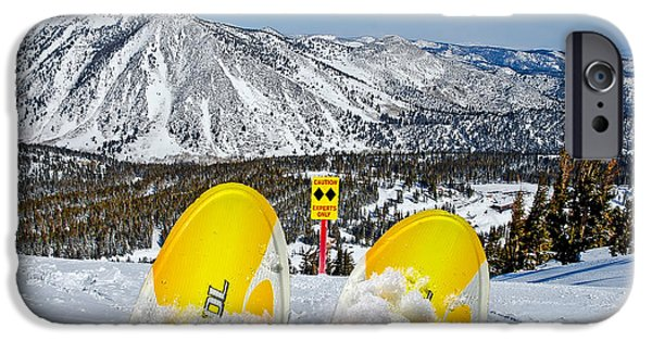 Snow Scene iPhone Cases - Caution iPhone Case by Maria Coulson