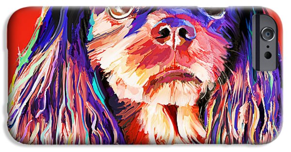 Recently Sold -  - Small iPhone Cases - Cavalier King Charles Spaniel 1 iPhone Case by Jackie Jacobson