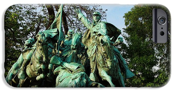 D.c. iPhone Cases - Cavalry Charge - Ulysses S. Grant Memorial iPhone Case by Glenn McCarthy