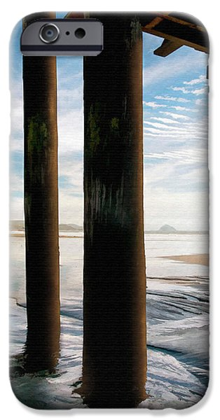 Cayucos Pier iPhone Case by Sharon Foster