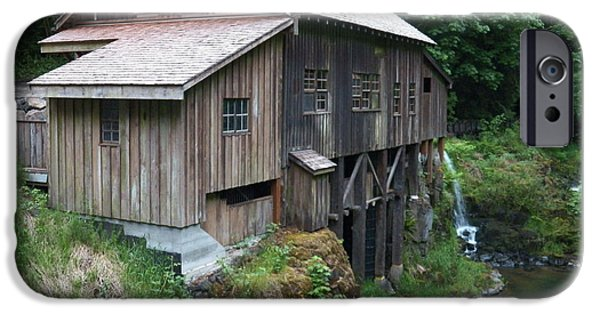 Creek iPhone Cases - Cedar Creek Grist Mill iPhone Case by Laurie Kidd