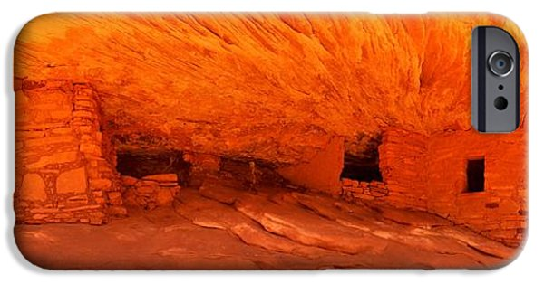 Historic Ruins iPhone Cases - Cedar Mesa Panorama iPhone Case by Adam Jewell