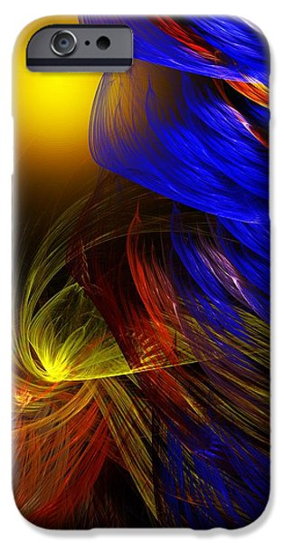 Fine Art Fractal iPhone Cases - Celebrate iPhone Case by David Lane
