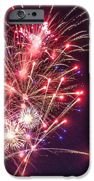 Fourth Of July iPhone Cases - Celebrate with Fire iPhone Case by Karen Regan