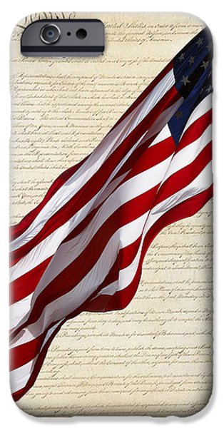 Constitution iPhone Cases - Celebrating the United Statrs of America iPhone Case by Linda Phelps