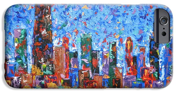 Chicago Paintings iPhone Cases - Celebration City iPhone Case by J Loren Reedy