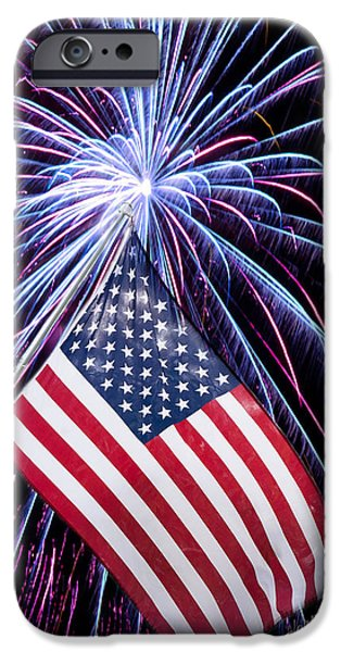Fourth Of July iPhone Cases - Celebration of Freedom iPhone Case by Terri Harper
