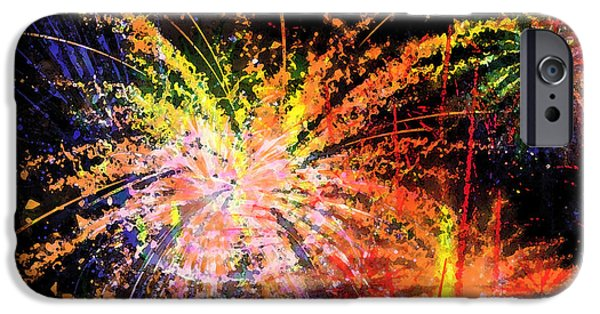 Fireworks Digital iPhone Cases - Celebration iPhone Case by Richard Rizzo