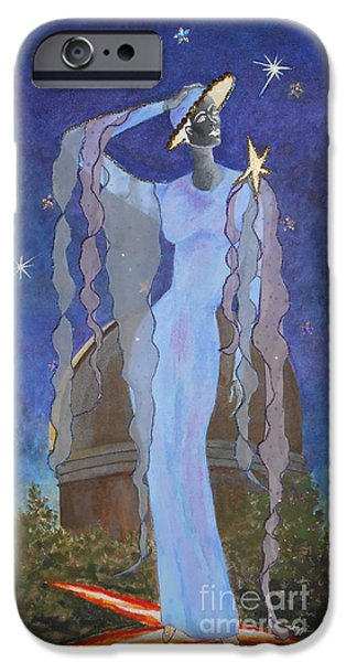 Model Tapestries - Textiles iPhone Cases - Celestial Bodies iPhone Case by Jayne Somogy