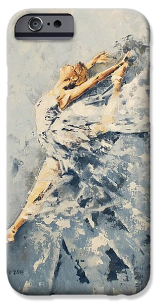 Freedom iPhone Cases - Celestial Dance iPhone Case by Violeta Oprea
