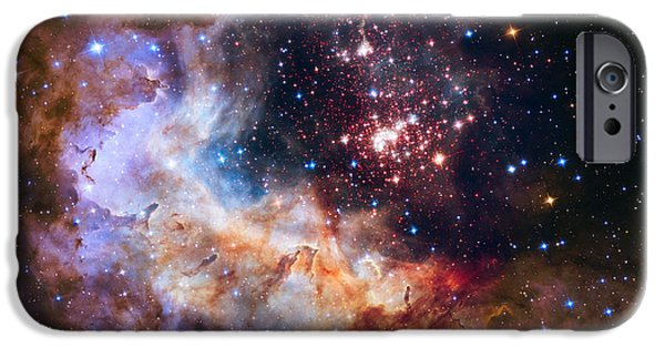 Stellar iPhone Cases - Celebrating Hubbles 25th Anniversary iPhone Case by Eric Glaser