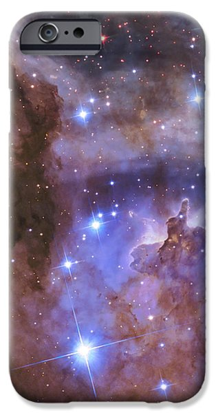 Nature Study iPhone Cases - Celestial Fireworks - Hubble 25th Anniversary Image iPhone Case by Adam Romanowicz