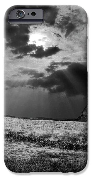 celestial lighting iPhone Case by Meirion Matthias
