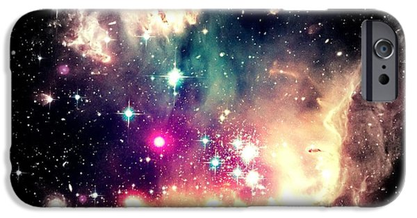 Constellations iPhone Cases - Celestial Oasis iPhone Case by Johari Smith