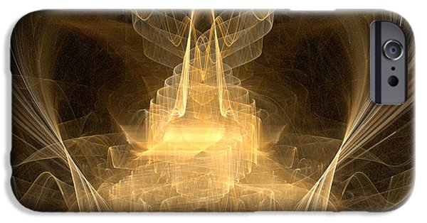 Christian Artwork Digital Art iPhone Cases - Celestial iPhone Case by R Thomas Brass