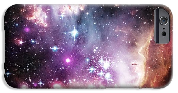 Constellations iPhone Cases - Celestial Space iPhone Case by Johari Smith