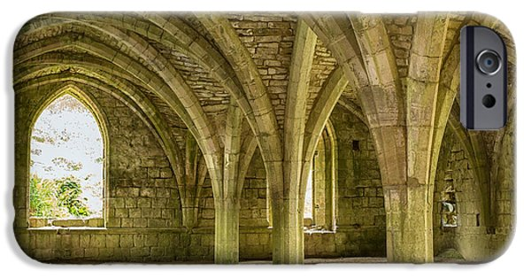 Historic Site iPhone Cases - Cellarium at Fountains Abbey iPhone Case by Patricia Hofmeester