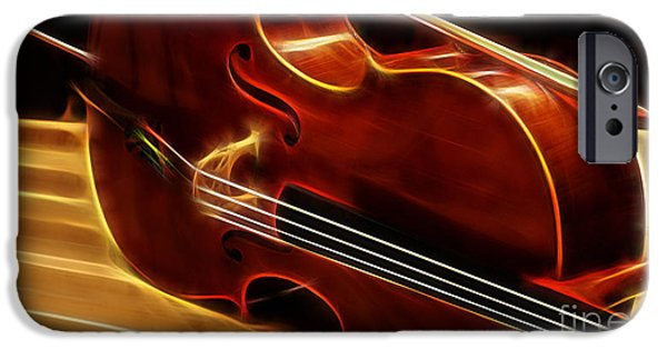 Instrument iPhone Cases - Cello Collection iPhone Case by Marvin Blaine