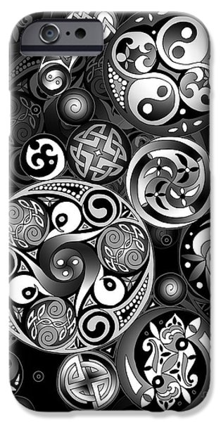 Mechanism Mixed Media iPhone Cases - Celtic Clockwork iPhone Case by Kristen Fox